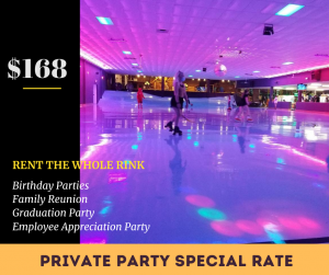 9:30-11:30am Available for PRIVATE Rental *Discounted Rate
