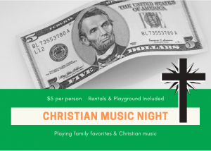 Christian Music Night $5 Each