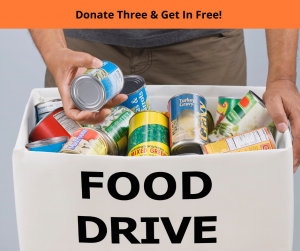 Food Drive Skate Party, Click for Details