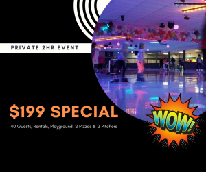 6-8pm Private Party DISCOUNT Available, Click for Details